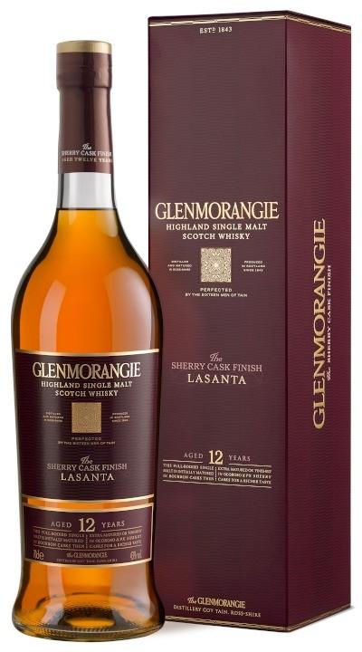 Glenmorangie - 12 years Lasanta Highland Single Malt Scotch Whisky im Geschenkkarton
