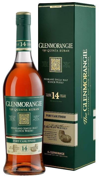 Glenmorangie - 14 years Quinta Ruban Highland Single Malt Scotch Whisky im Geschenkkarton