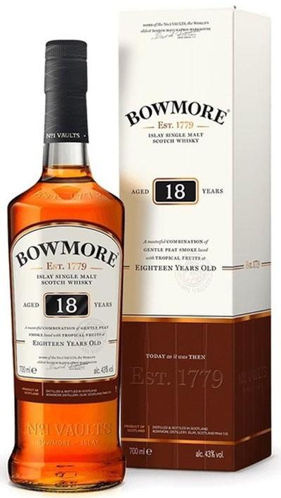 Bowmore - 18 years Islay Single Malt Scotch Whisky im Geschenkkarton
