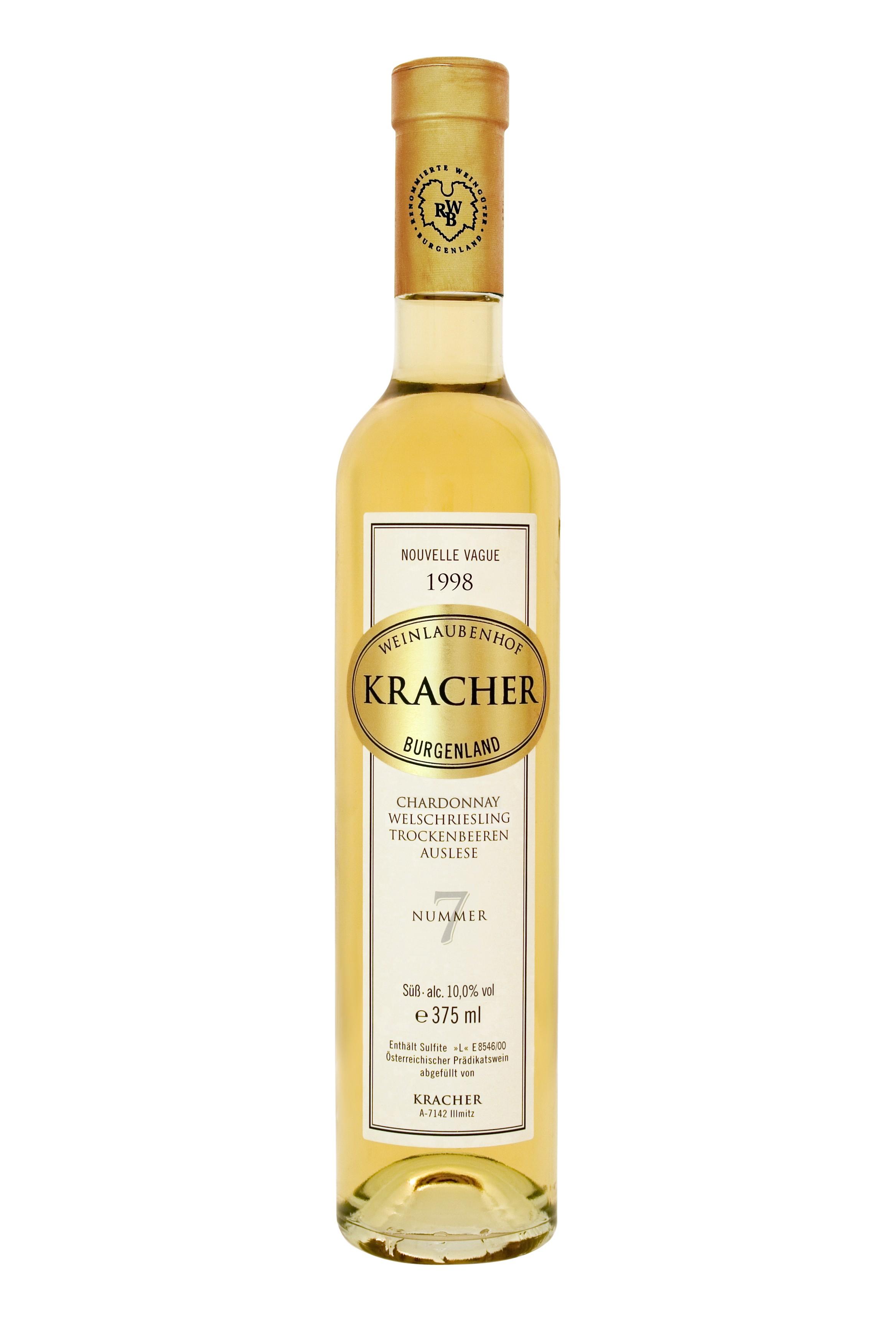Kracher - Rarität Chardonnay-Welschriesling Nr. 7 Trockenbeerenauslese, 1998