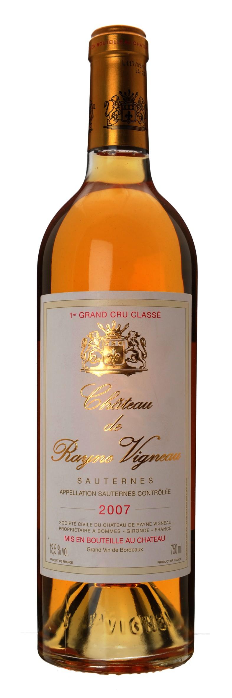 Chateau de Rayne Vigneau - 1.Grand Cru Classe, 2007