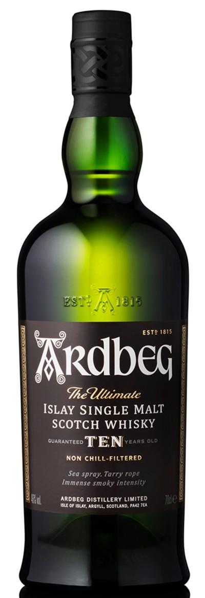 Ardbeg - 10 years Ten Islay Single Malt Scotch Whisky