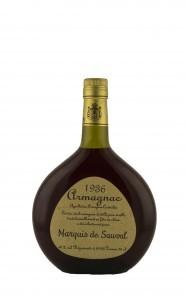 Marquis de Sauval Armagnac millésimé 40° - , 1929