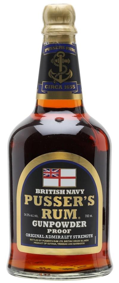 Pusser's- Black Label Gunpowder Proof Rum