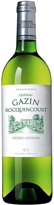 Château Gazin Rocquencourt - Pessac-Léognan blanc, 2015