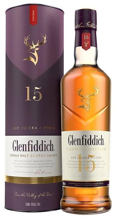 Glenfiddich - 15 years Solera Reserve Speyside Single Malt Scotch Whisky