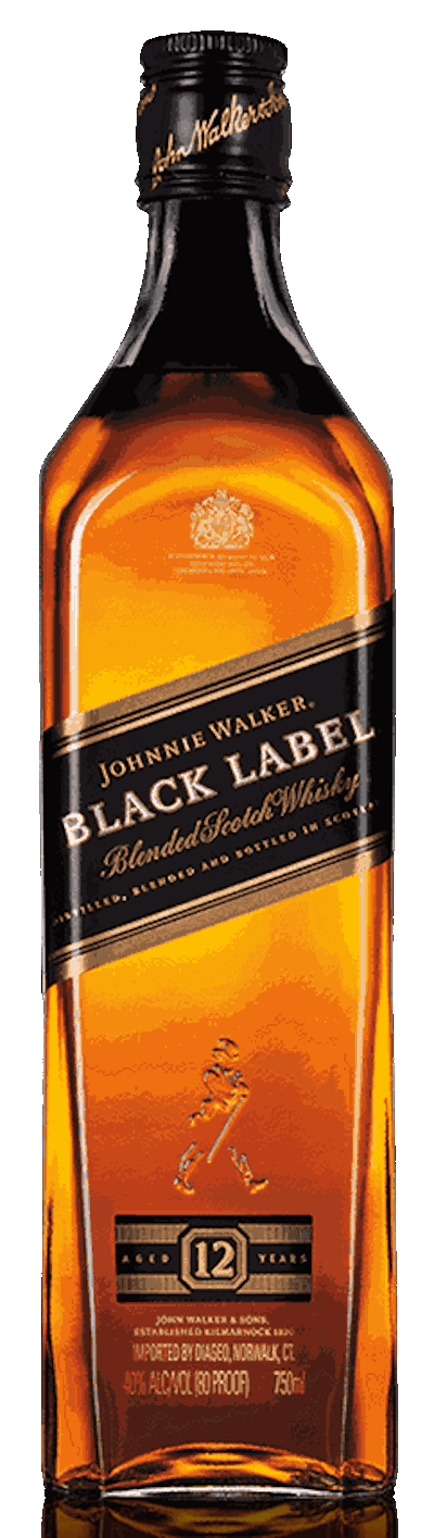 Johnnie Walker - 12 years Black Label Blended Scotch Whisky