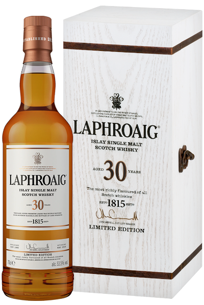 Laphroaig - Rarität 30 years Single Malt Scotch Whisky signiert von John Campbell