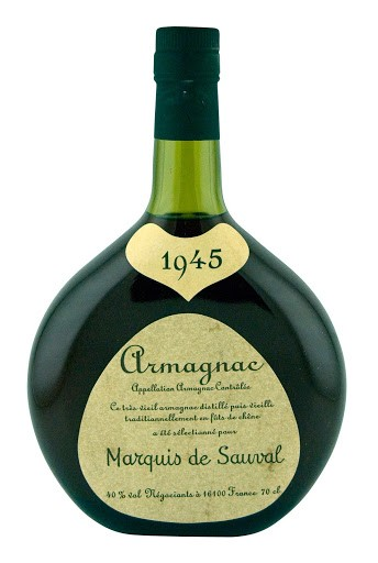 Marquis De Sauval - Armagnac Millesime 40°, 1945