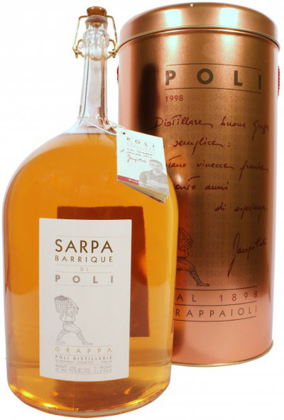 Poli - Grappa Sarpa Oro Großflasche