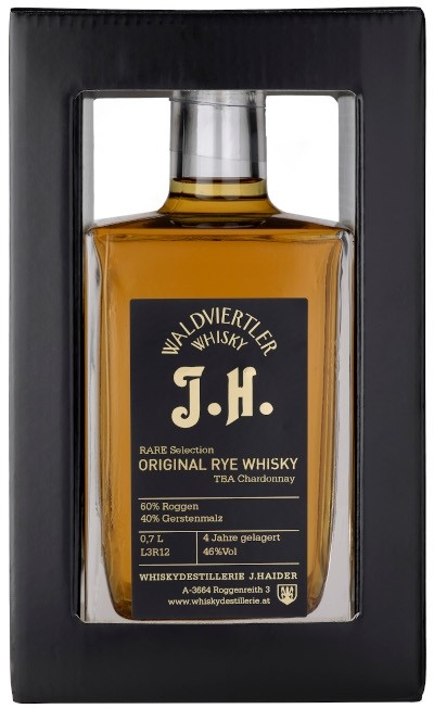 Waldviertler Whisky J. Haider - Rarität Rye Malt Rare Selection Fassfinish Portweinmethode