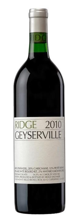 Ridge Vineyards - Geyserville Zinfandel, 2010